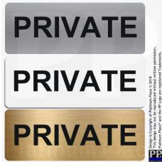 Private Sign-Aluminium Metal-Door,Notice,Shop,Office,Secure